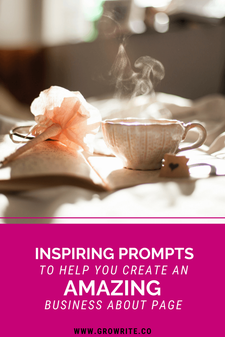 Inspiring prompts to help you create an amazing about page