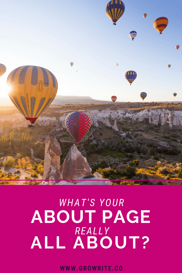 What is your website's about page really about?