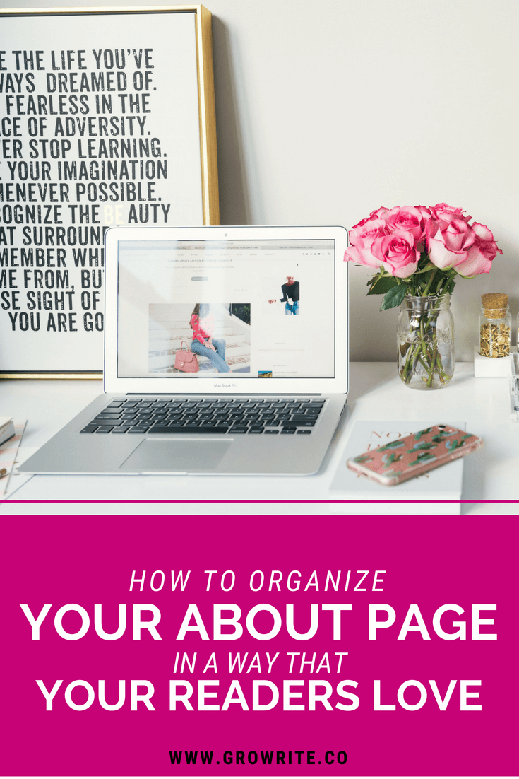 How to Organize Your About Page