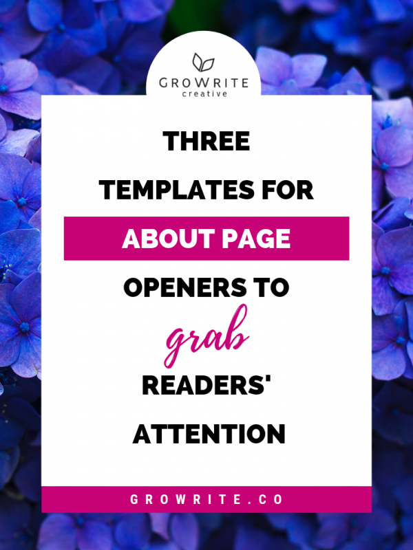 3 Templates For About Page Openers To Grab Readers' Attention