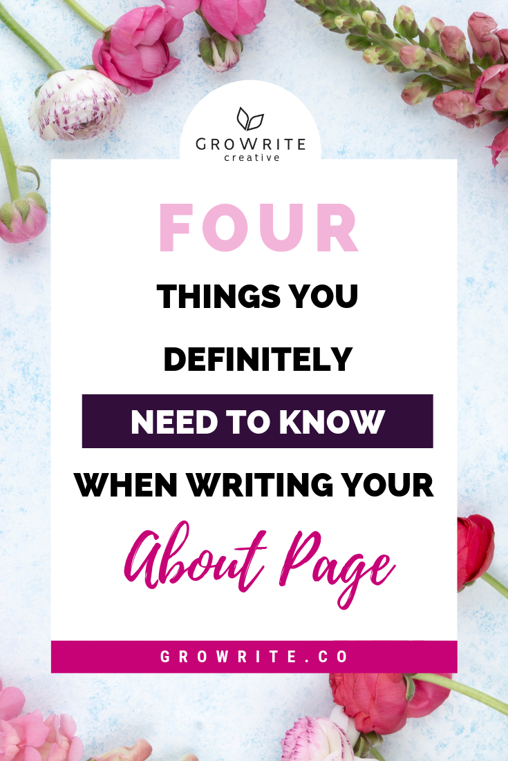 4 things you need to know when writing an about page