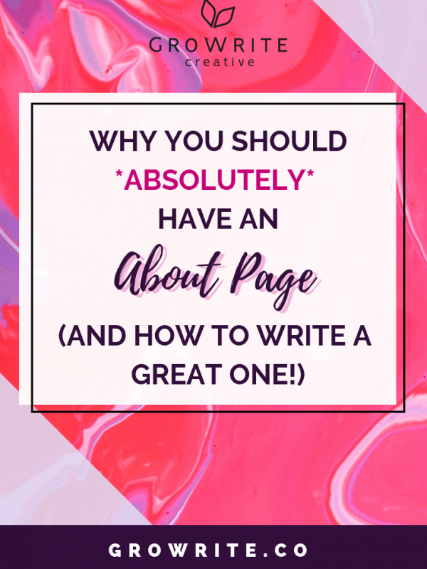 Why you should have an About page (and how to write a great one!)