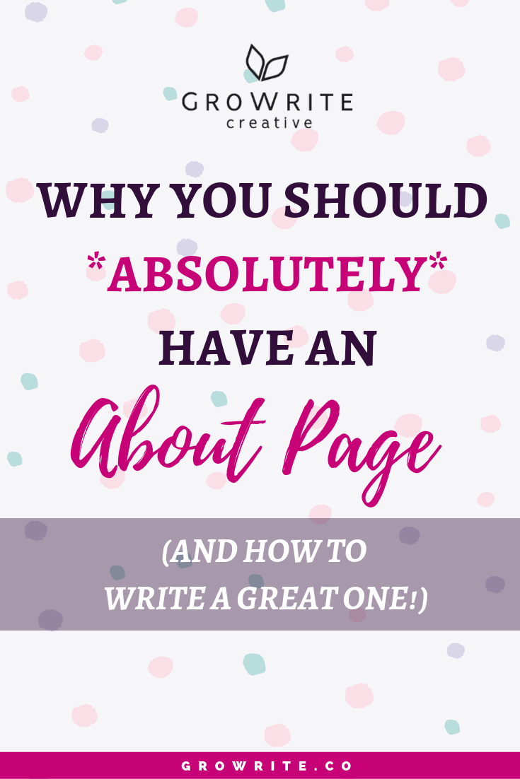 Why you should have an About page