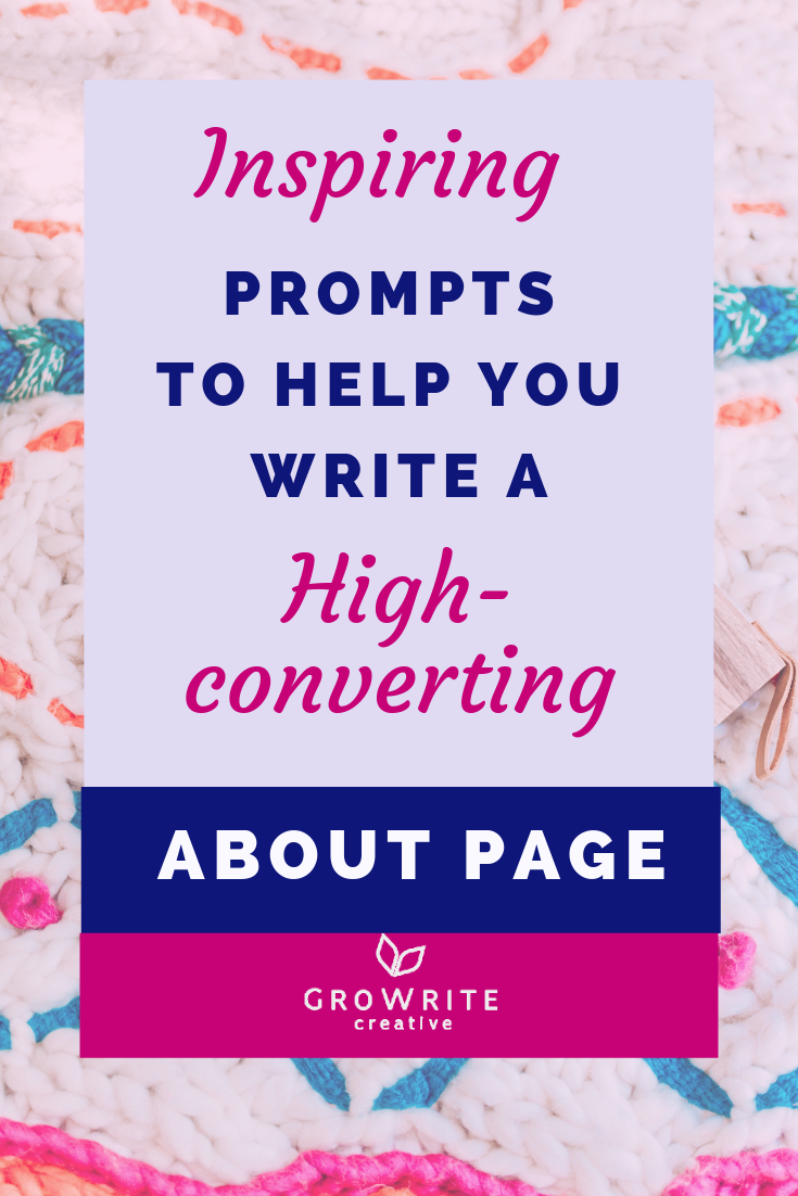 Inspiring prompts to help you write an about page