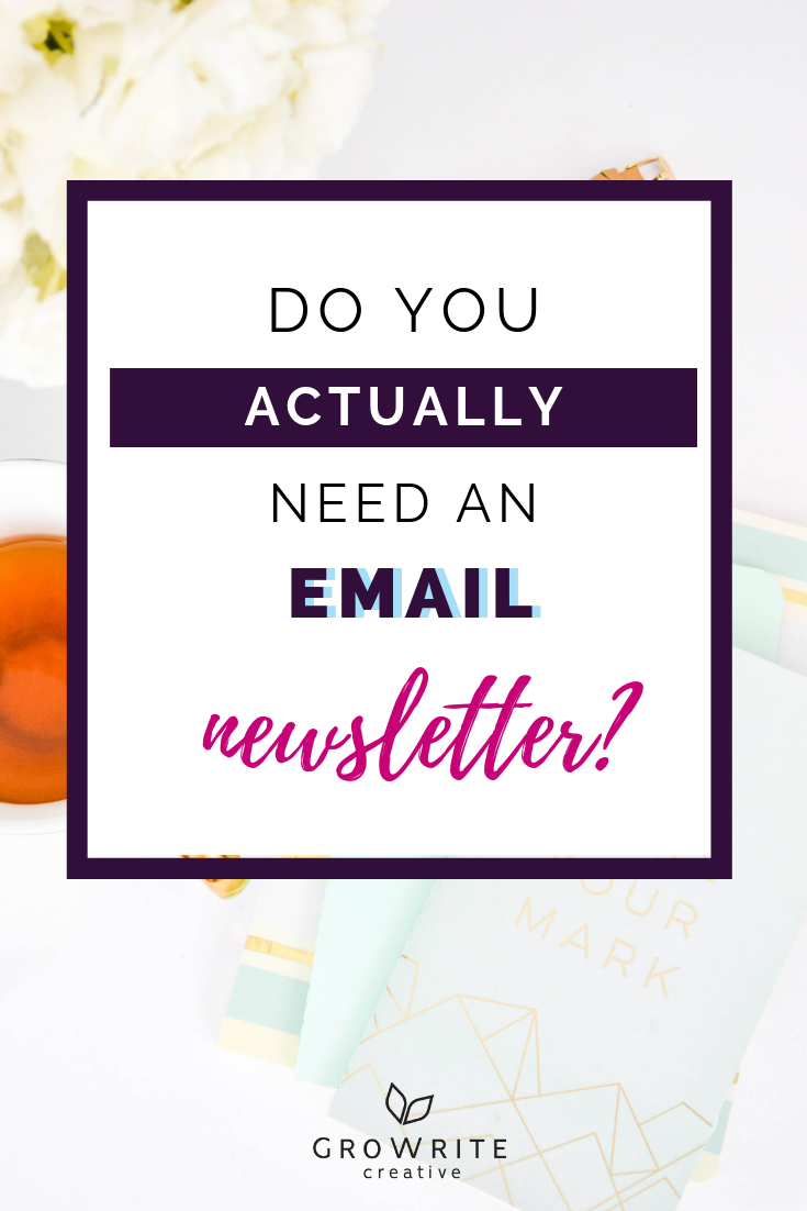 do you actually need an email newsletter