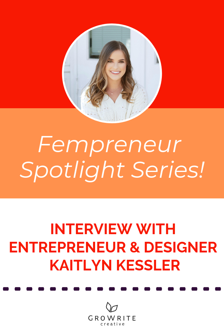 Read about the business journey of fempreneur Kaitlyn Kessler! Entrepreneur, graphic designer, art director, and owner of 6-figure business TheCrownFox.com, Kaitlyn believes that you CAN build a business and life which feel easy and enjoyable. Discover how she did it (and find out her top tips for new entrepreneurs) here:
