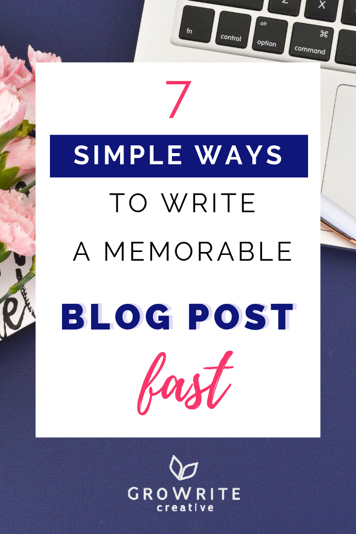 Write blog post fast