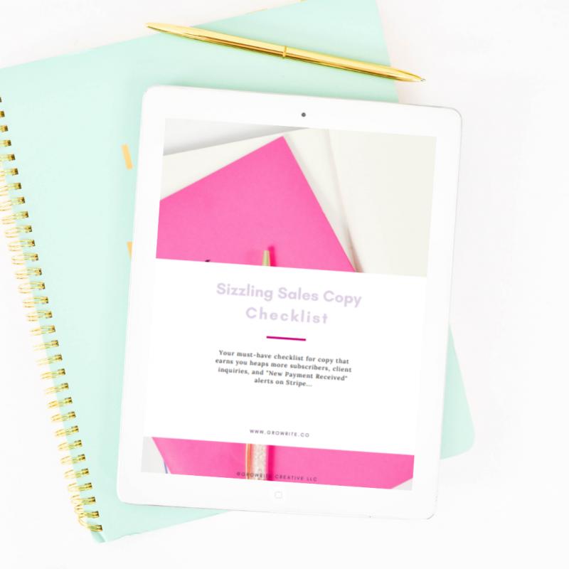 Sizzling Sales Copy Checklist