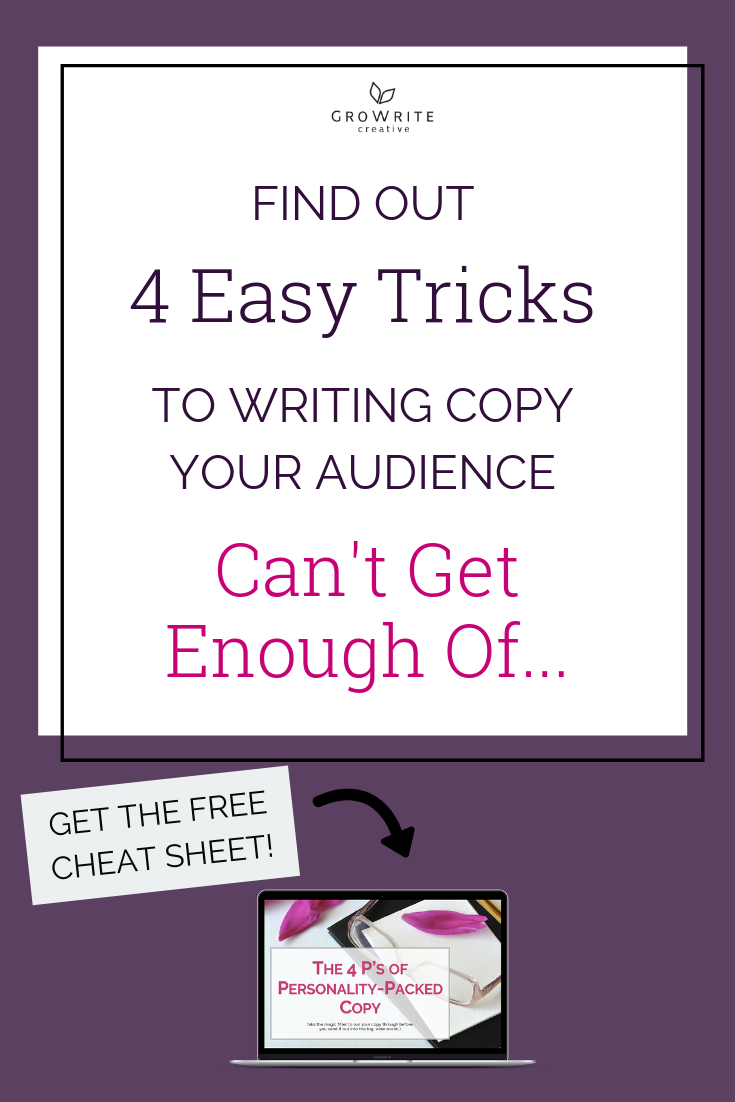 Find out 4 easy tricks to writing copy your audience can't get enough of
